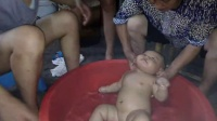 吴瑞洋在洗澡