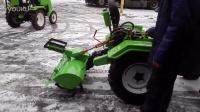 15马力小型四轮拖拉机配旋耕机和除雪设备工作演示