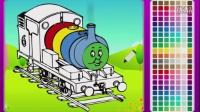 托马斯填颜色 教孩子认识色彩 儿童玩具 亲子小游戏