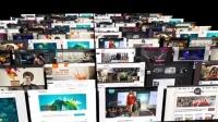 1297_ 照片墙阵列滚动排列幻灯片展示展示AE模板