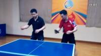 《巧遇湿父打乒乓球系列》第四集:湿父亲传网友反手拨球技巧