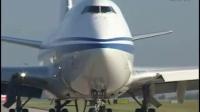 实拍国航747曼彻斯特机场震撼起飞