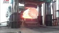 5000吨自由锻液压机拔长锻件的过程