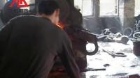 空气锤和辗环机锻轧钢环的过程