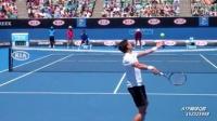 网球技术手机缓存视频:拉奥尼奇2区平击内角发球(后视角度)-1