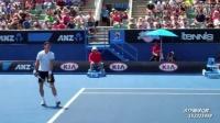 网球技术手机缓存视频:拉奥尼奇平击发球(底线角度)-1