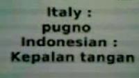 Imparare l'Italia - indonesiano MANO - con la voce