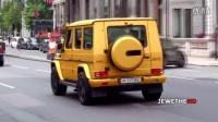 磨砂金奔驰G63 AMG年轻人巡游