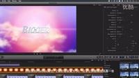 每天5分钟跟着AYA学final cut pro 10-怎么用FCPX制作简单的3D飞跃动画片头2