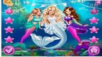 6芭比娃娃★芭比美人鱼婚礼★芭比娃娃动画片国语版★ 芭比公主婚纱摄影★芭比之公主学
