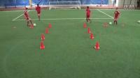 足球盘带射门训练1