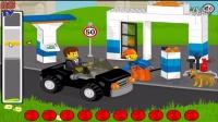 【乐高世界】乐高加油站,给过路汽车加油