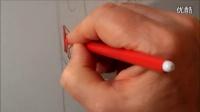 悬浮红牛-素描手绘-3D错觉艺术