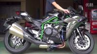 Ninja H2  ノジマエンジニアリング DLCチタン スリップオンサイレンサー 排気音の純