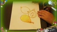 枇杷怎么画微妙微翘?亲子教育最快教儿童学画画方法,乐成宝贝