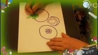 水彩笔画山竹方法,快速画水果山竹的步骤,乐成宝贝