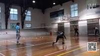 杜杜与退役国手训练慢动作2(启动小跳,马来步,蹬跨,二次启动,勾球,挑球)