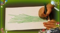 画韭菜,教幼儿学画画绘画基础教程视频,乐成宝贝