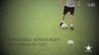 1对1过人训练--外脚背变向、拖球+踩单车过人