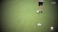 1对1过人训练--拖球外脚背变向+罗纳尔多晃动