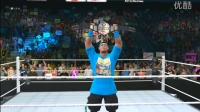 WWE2016塞纳KO卢瑟福&兰迪空摔丹尼尔
