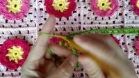 伊人手工 花朵抱枕(三) 背面网格的钩织