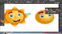 17案例之太阳脸ai教程 illustrator全面教程 从新手到高手