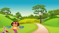 爱探险的朵拉系列游戏之朵拉接食物小主公解说