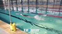 TOSWIM游泳训练板使用视频-闭气单手自由泳打腿练习