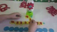 幼儿园亲子活动游戏 幼儿园自制玩教具数学喂饼干喂食物