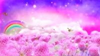 89浪漫彩虹花朵蝴蝶