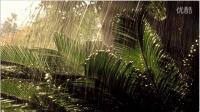 催眠音乐戴上耳机感受一场雨林的雷阵雨3D
