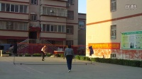 河南省义马市上石河小区羽毛球训练201605241815