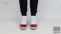 Air Jordan 11 Low Retro Varsity Red AJ11 Low 白红 上脚近赏