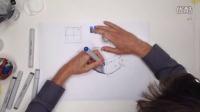 工业设计手绘圆角透视画法马克笔及色粉教程