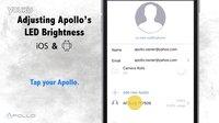 How do I adjust LED brightness or turn off the LED on Apollo_FINAL