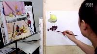 北京弘艺教学视频—色彩单体示范(葡萄)