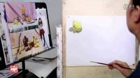 北京弘艺教学视频—色彩单体示范(梨)