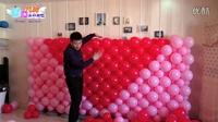 气球教学频爱心背景墙的制作流程