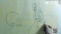 素描静物教学8—逆光画法