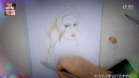 手绘美人图 如何画性感卷发美女