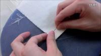 服装制作教学之缝纫技巧【服装工艺】三角针的打法