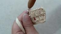 第7集 多色条纹的垫子C676 编织教学教程视频 棉草拉菲桌面也田园系列(流畅)