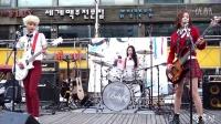 [雅妍]150523韩国架子鼓女神 Bebop Ayeon - 비밥 '예쁜남자 OST' 홍대 나무무대공연