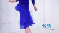 周一亮蓝色长纱裙