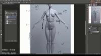 动漫绘画教程之性感女性臀部绘画