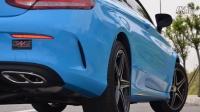 奔驰C200 改装CENDE森德排气 中尾段阀门排气 可变声音排气 成都飞凯改