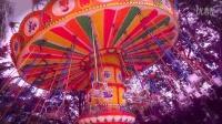 慢镜头-彩色的梦,旋转的飞椅