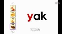 X、Y和Z的单词拼读手卡