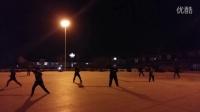 华山玉泉院广场夜练钢鞭